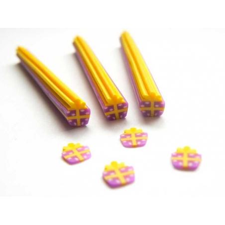 Acheter Cane cadeau violet et jaune - 0,99€ en ligne sur La Petite Epicerie - 100% Loisirs créatifs
