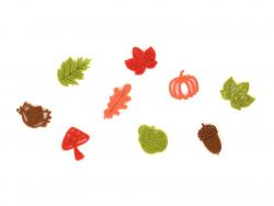 Kleine Filzstreuteile - Herbst