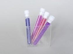 Röhrchen mit 350 milchigen Perlen - dunkelviolett