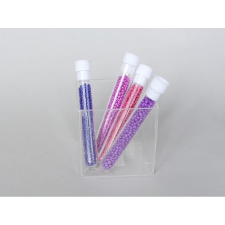 Acheter Tube de 350 perles de rocailles opaques - violet foncé - 0,99€ en ligne sur La Petite Epicerie - Loisirs créatifs