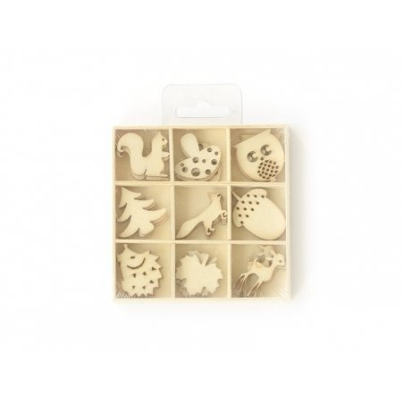 Small wooden shapes - Nature