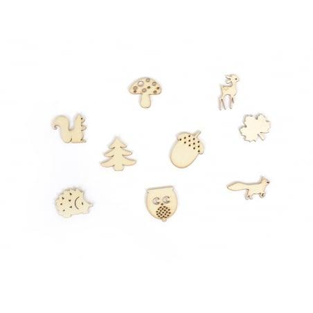 Acheter Mini silhouettes en bois - Nature - 3,00€ en ligne sur La Petite Epicerie - 100% Loisirs créatifs