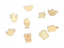Kleine Holzstreuteile - Frühstück