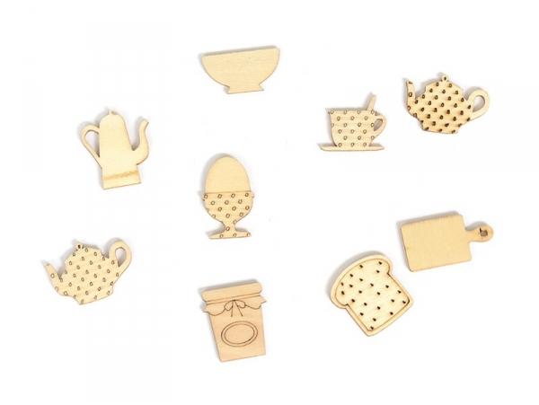 Mini silhouettes en bois - Petit déjeuner