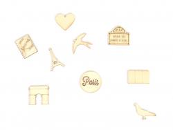 Mini silhouettes en bois - Paris