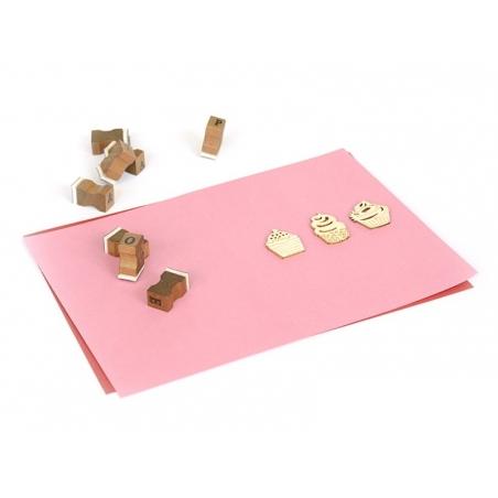 Mini silhouettes en bois - Cupcakes