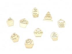 Mini silhouettes en bois - Cupcakes Artemio - 1