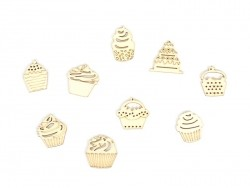 Small wooden shapes - Cupcakes