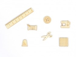 Mini silhouettes en bois - Couture