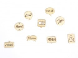 Small wooden shapes - Words