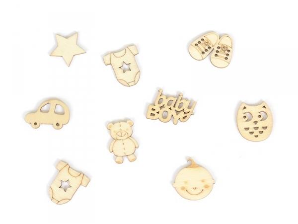 Acheter Mini silhouettes en bois - Baby boy - 2,99€ en ligne sur La Petite Epicerie - Loisirs créatifs