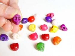 20 perles tête de mort Skulls / M  - 1