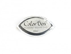 Silver-coloured stamp ink pad