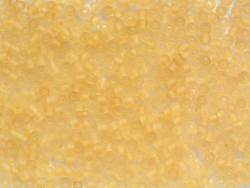 Röhrchen mit 350 durchsichtigen, matten Perlen - ockerfarben