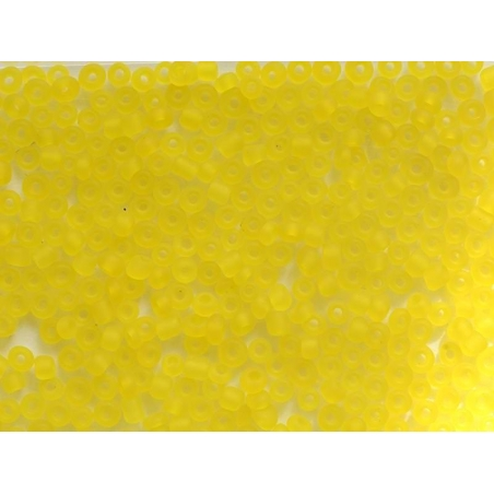 Tube of 350 transparent, matte beads - yellow