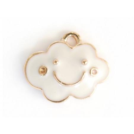 Acheter Breloque nuage émaillée - 1,49€ en ligne sur La Petite Epicerie - 100% Loisirs créatifs