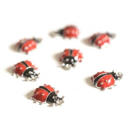 Enamelled ladybird pendant