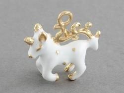Breloque licorne blanche émaillée