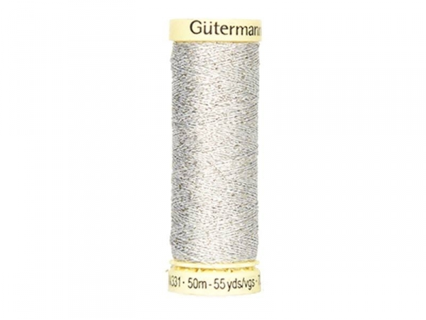 Metallic effect thread - 50 m - Silver (colour no. 41)
