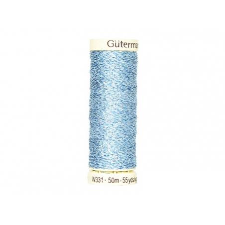 Fil métallique -50 m- Bleu clair 143 Gütermann  - 1