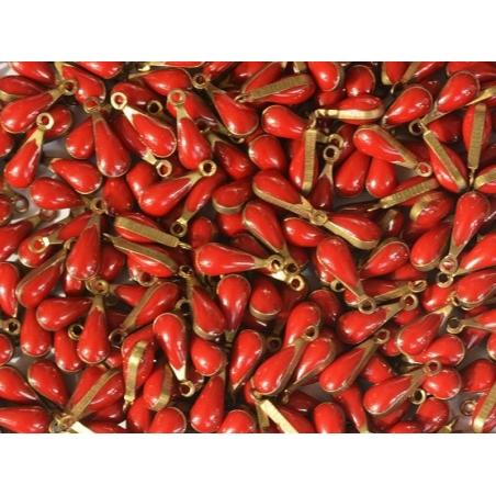 Acheter Breloque goutte émaillée - rouge bordeaux - 0,49€ en ligne sur La Petite Epicerie - 100% Loisirs créatifs