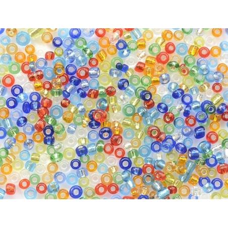 Acheter Tube de 350 perles à inclusions argentés - multicolore - 0,99€ en ligne sur La Petite Epicerie - Loisirs créatifs
