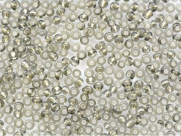 Tube de 350 perles à inclusions argentés - gris
