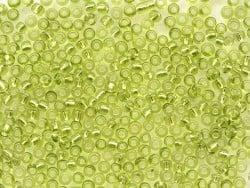 Tube de 350 perles à inclusions argentés - vert pomme