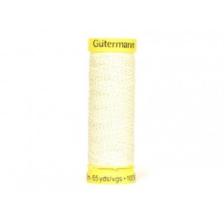 Fil lin -50 m- Crème 4011 Gütermann  - 1