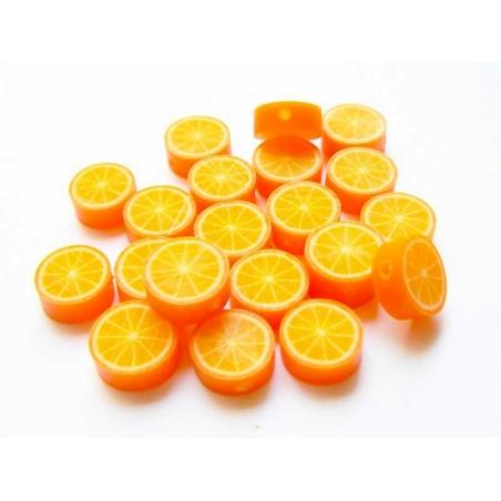 20 orange beads