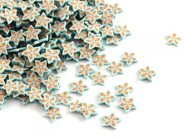 Acheter 100 tranches en pâte polymère - étoiles oranges et bleu pâle - 1,19€ en ligne sur La Petite Epicerie - 100% Loisirs ...