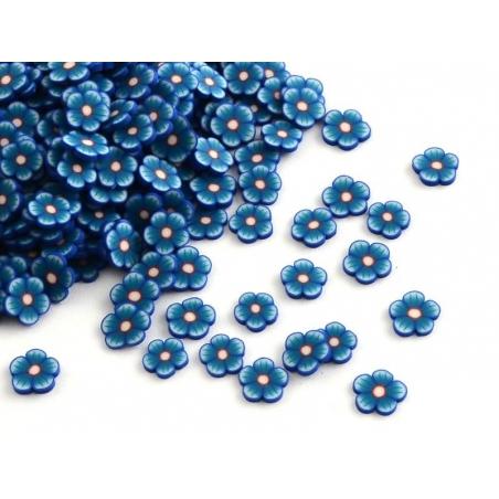 Acheter 100 tranches en pâte polymère - fleurs bleues - 1,19€ en ligne sur La Petite Epicerie - 100% Loisirs créatifs