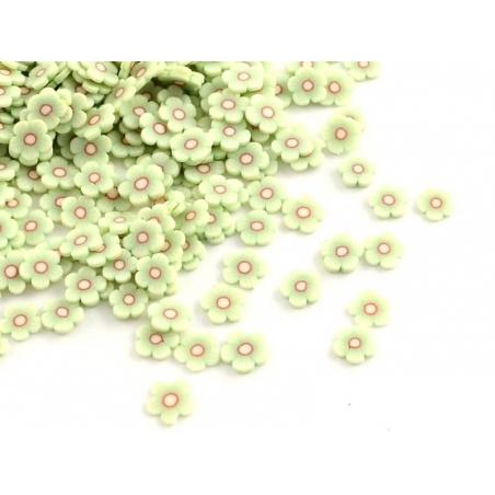 Acheter 100 tranches en pâte polymère - fleurs vertes - 1,19€ en ligne sur La Petite Epicerie - Loisirs créatifs