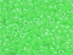 Tube de 1100 rocailles - Miyuki Delicas 11/0 - Vert  lumineux 2040