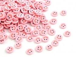 100 Polymer-Clay-Cane-Scheiben - rosafarbener Smiley