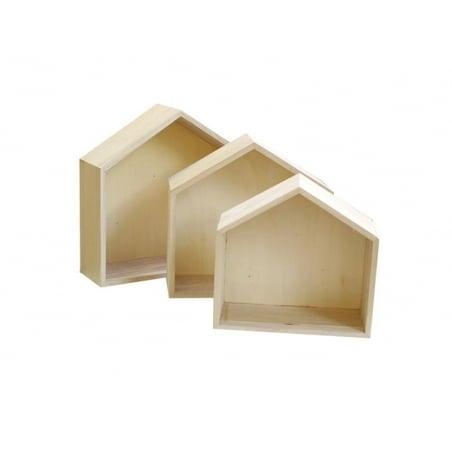 3 étagères Maison en bois à customiser Artemio - 2