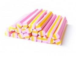 Cupcake/-Kuchencane - rosa und gelb