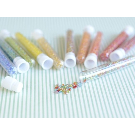 Acheter Tube de 350 perles transparentes irisées - multicolore - 0,99€ en ligne sur La Petite Epicerie - Loisirs créatifs