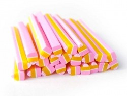 Small cake / Cupcake cane - pink and yellow