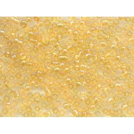 Acheter Tube de 350 perles transparentes irisées - ambre - 0,99€ en ligne sur La Petite Epicerie - 100% Loisirs créatifs
