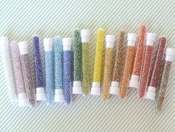 Tube of 350 transparent, iridescent beads - turquoise