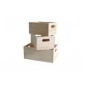 3 casiers  en bois à customiser