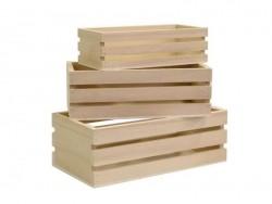 3 offene Holzkästen zur individuellen Gestaltung