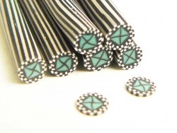 Poker chip cane - green