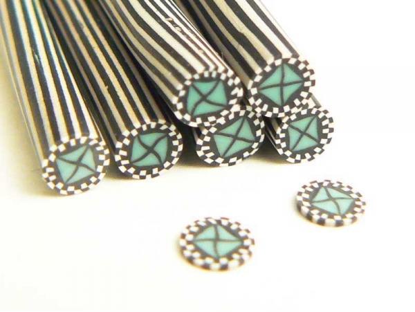 Poker chip cane - green