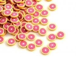 100 polymer clay cane slices - grapefruit