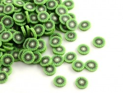 100 polymer clay cane slices - kiwi