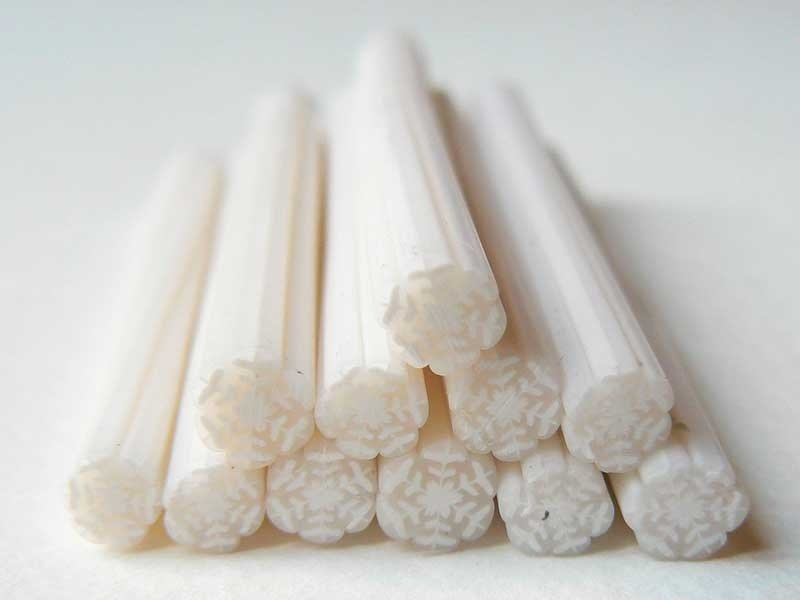 Acheter Cane flocon de neige- en pâte fimo - à trancher - 0,99€ en ligne sur La Petite Epicerie - Loisirs créatifs