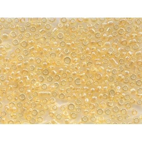 Tube de 350 perles transparentes lustrées - ocre