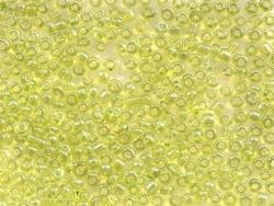 Tube de 350 perles transparentes lustrées - vert pomme